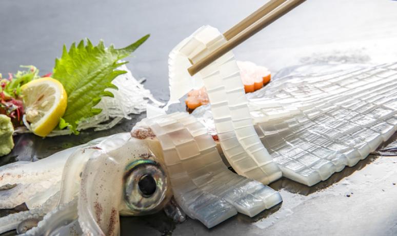 新鮮魷魚刺身(佐世保市)